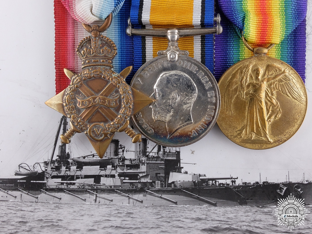 eMedals-A First War Trio to Lieutenant Frederick Medway