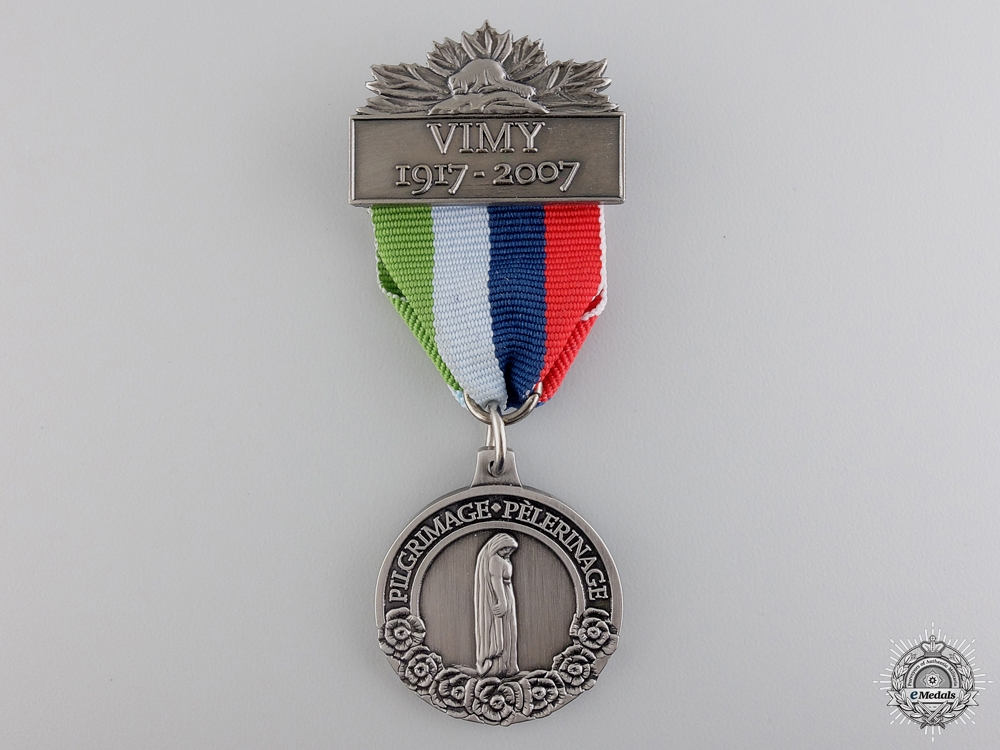 eMedals-A First War Vimy Pilgrimage 90th Anniversary Medal