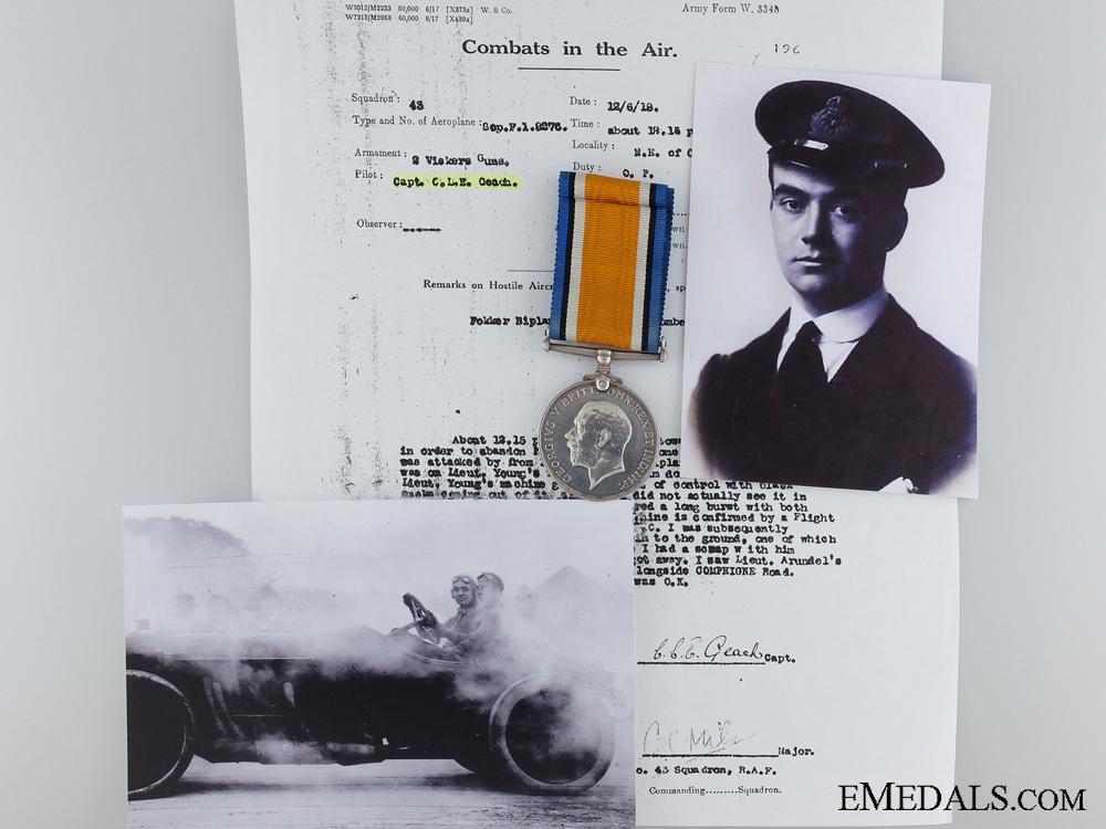 eMedals-A First War War Medal to Captain Geach; Air Force Cross Recipient
