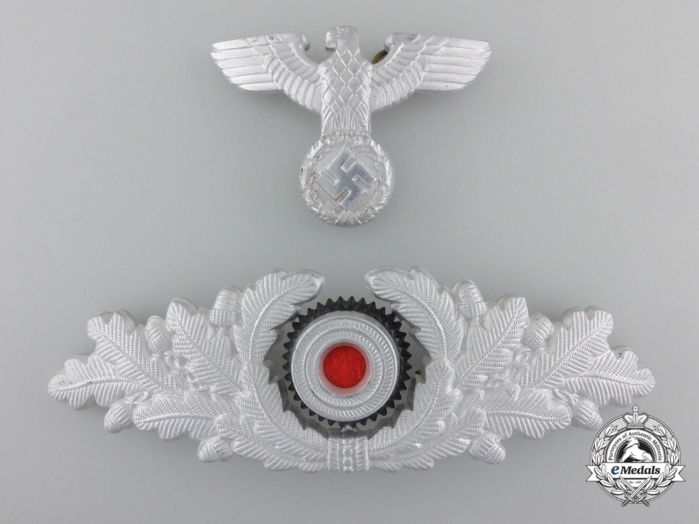 eMedals-A Forestry Officer's Visor Wreath and Eagle