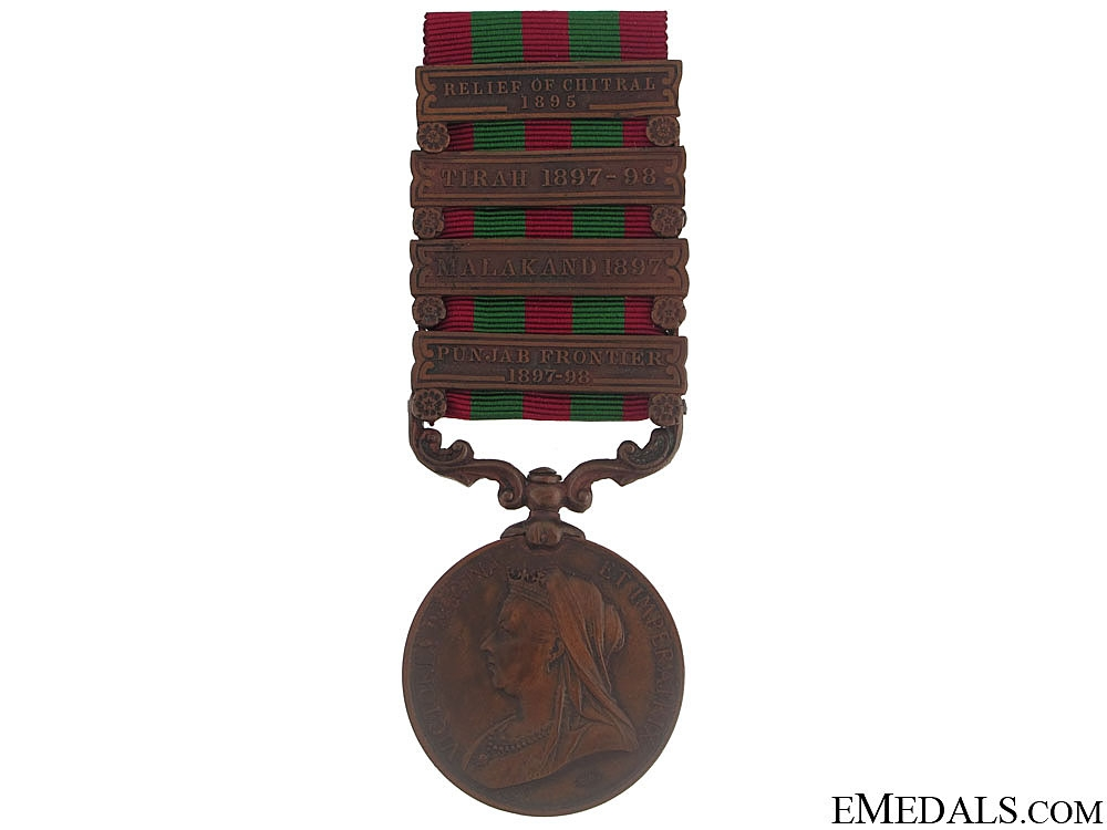 eMedals-A Four Bar India Medal, 1895-1902