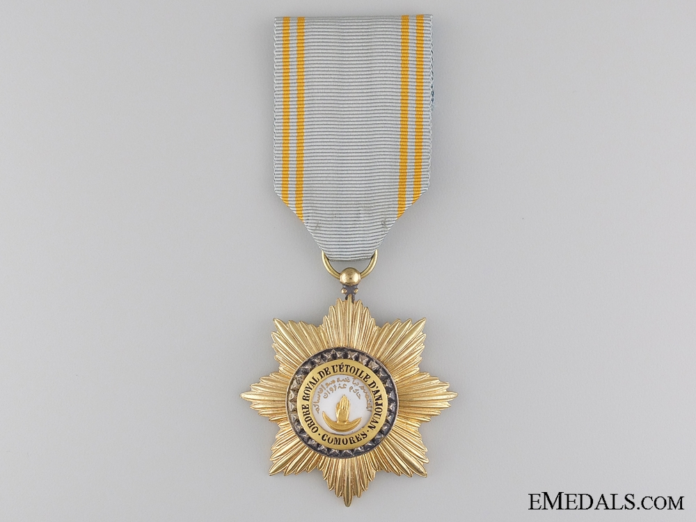 eMedals-A French Colonial Order of Star of Anjouan; Comoro Islands