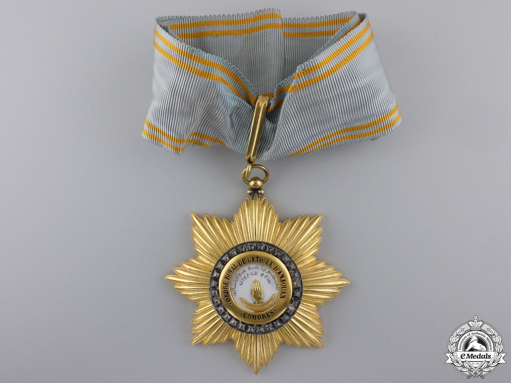 eMedals-A French Colonial Order of the Star of Anjouan; Comoro Islands