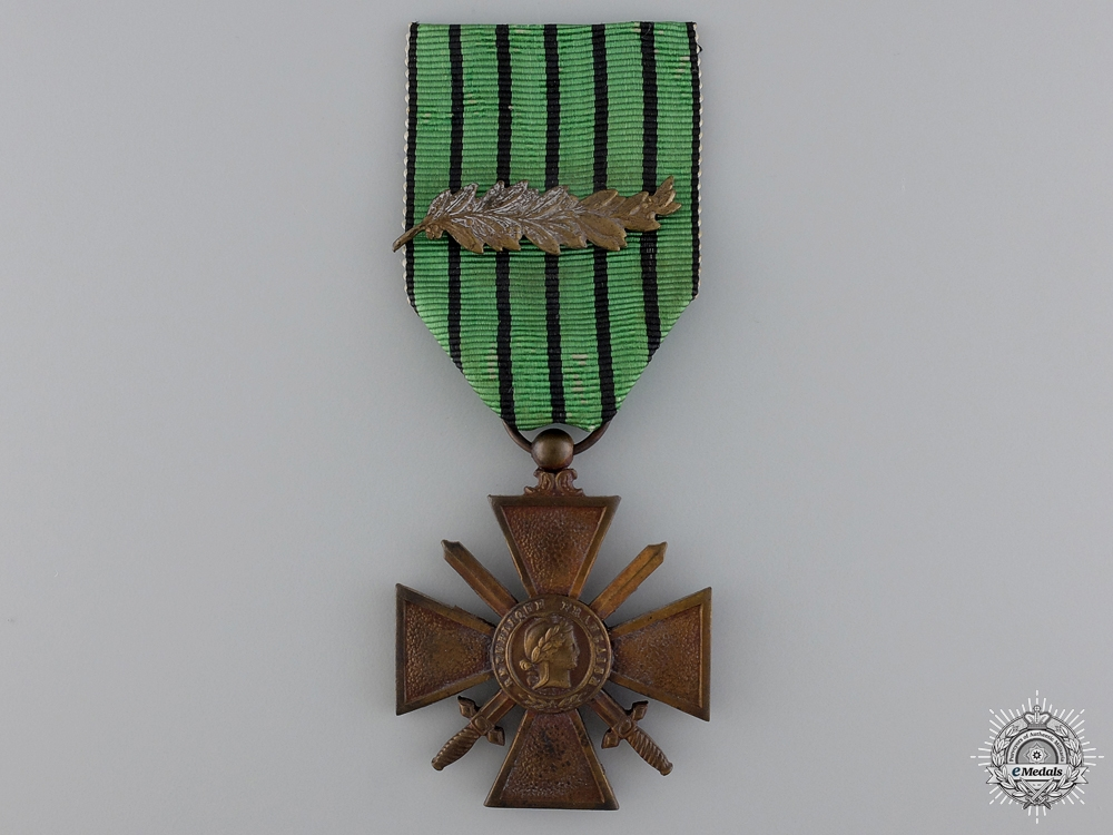 "eMedals-A French Croix de Guerre; Type II ""Vichy Government"", 1939-1940"