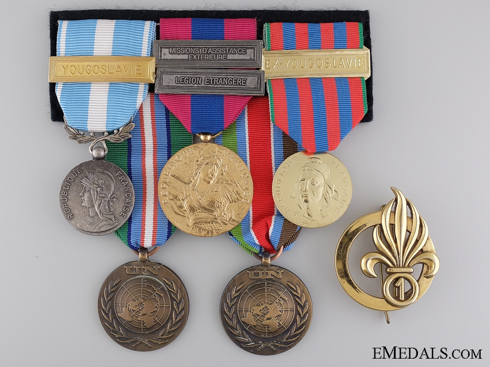 eMedals-A French Foreign Legion 'Yugoslavia Peacekeeping' Group