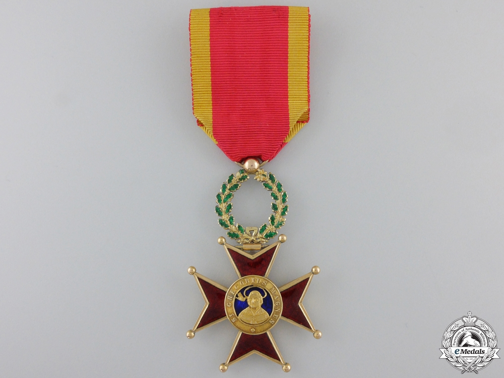 eMedals-A French Made Order of St. Gregory; Officer's Cross in Gold
