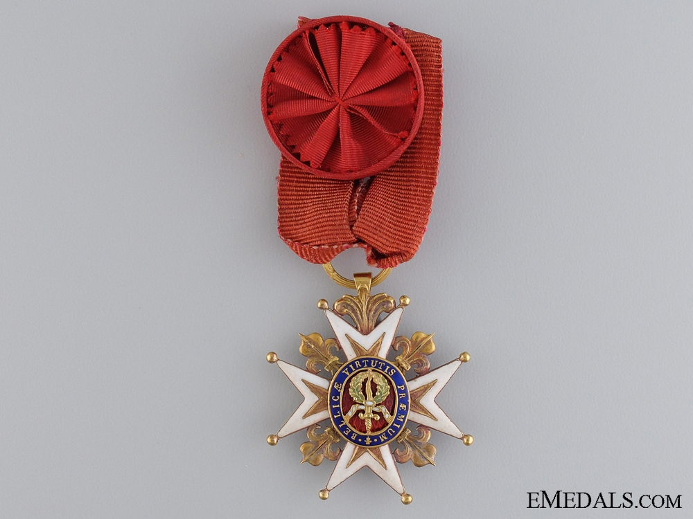 eMedals-A French Order of St. Louis; Knight with Rosette; c. 1810