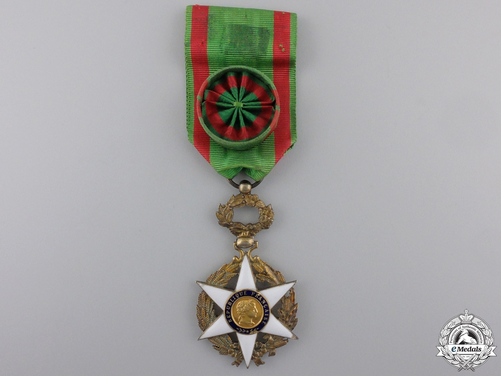 eMedals-A French Order of Agricultural Merit; Officer