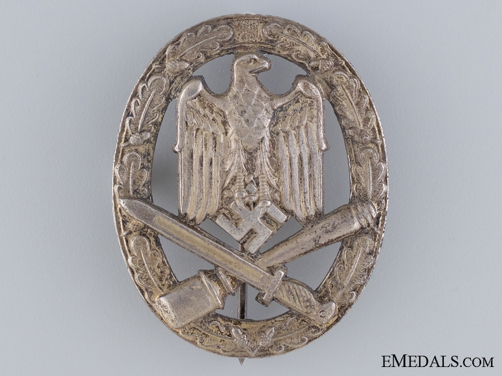 eMedals-A General Assault Badge; Zinc