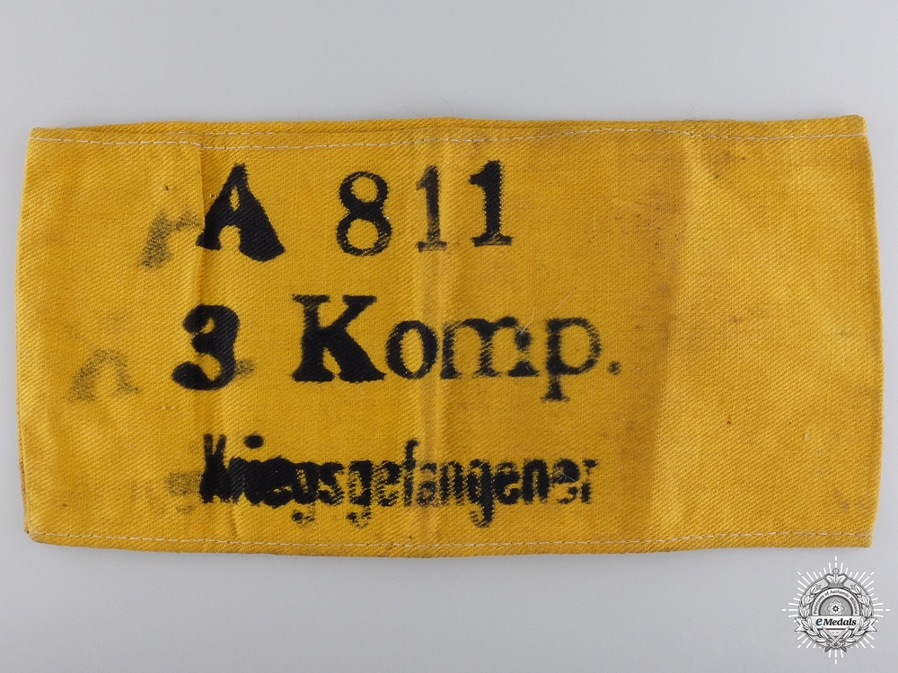 eMedals-A German 3rd Company Prisoner of War Armband