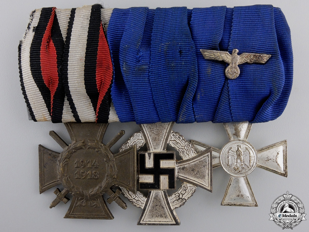 eMedals-A German Army Long Service Medal Bar