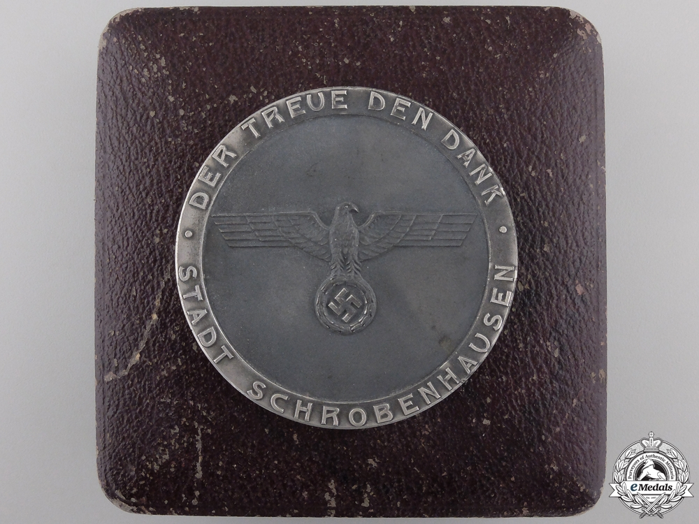 eMedals-A German Civic Faithful Service Award with Case