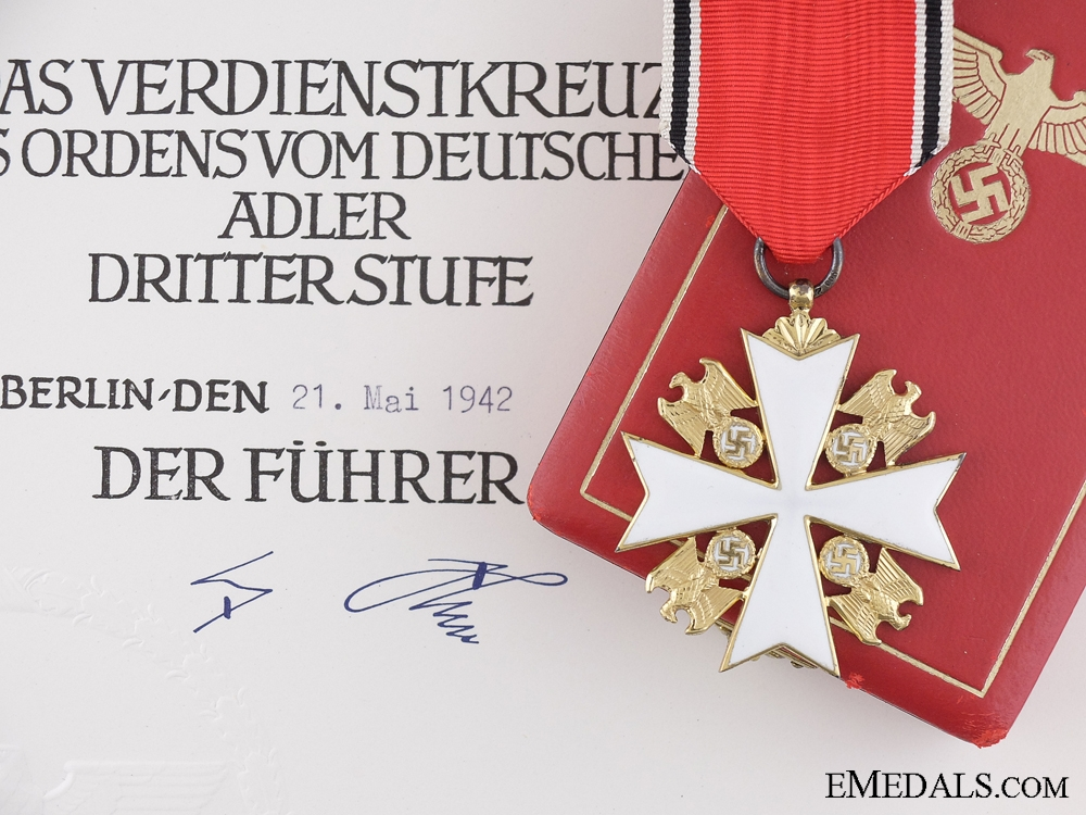 eMedals-A German Eagle Order; 3rd Class to Adolf Mauritz Sahlberg