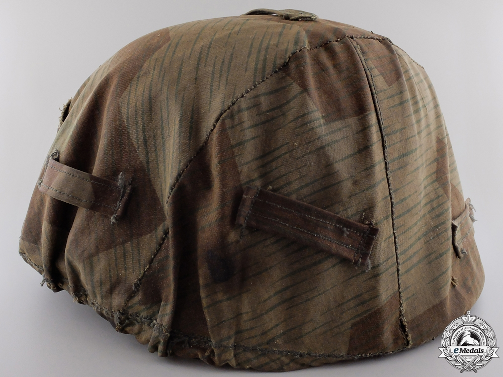 eMedals-A German Field Made Camouflage Helmet Cover