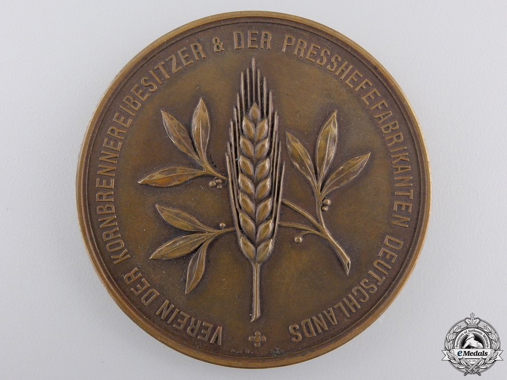eMedals-A German Grain Distillers & Compressed Yeast Manufacturers Service Medal