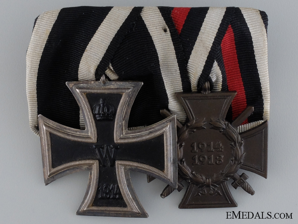 eMedals-A German Imperial Pairing; Gustav Danner, Mühlhausen
