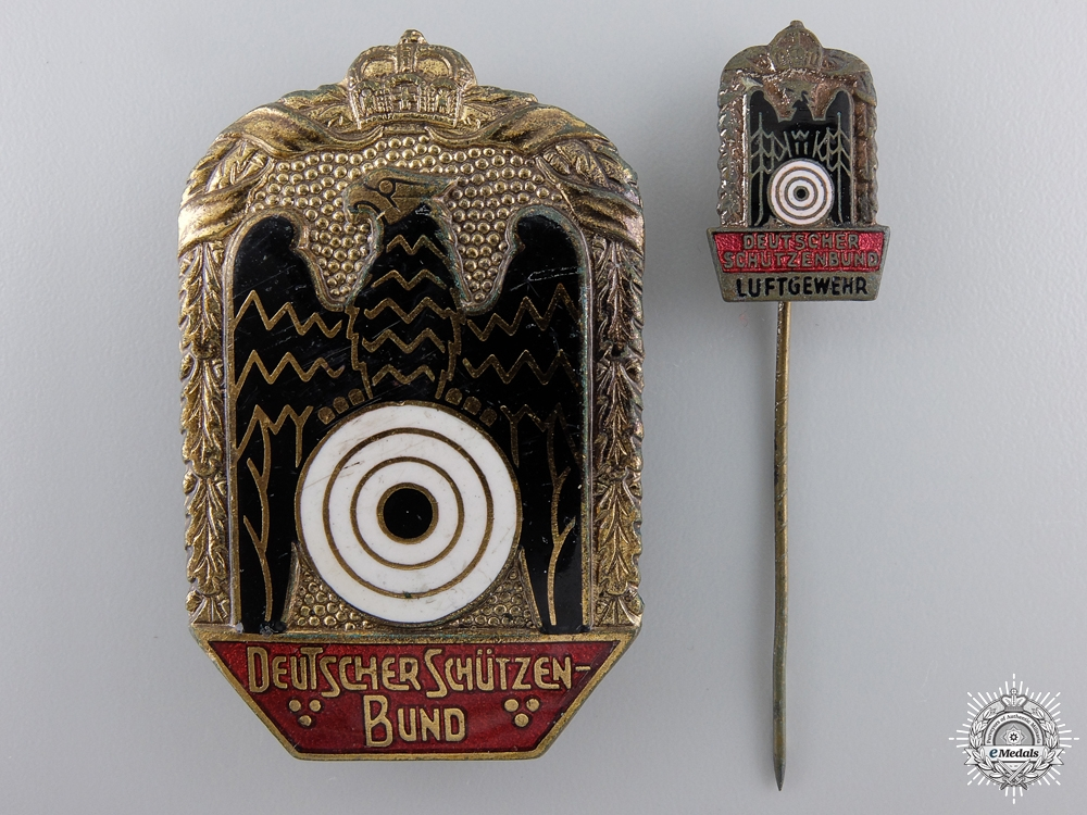 eMedals-A German Imperial Shooting Association Badge with Stickpin