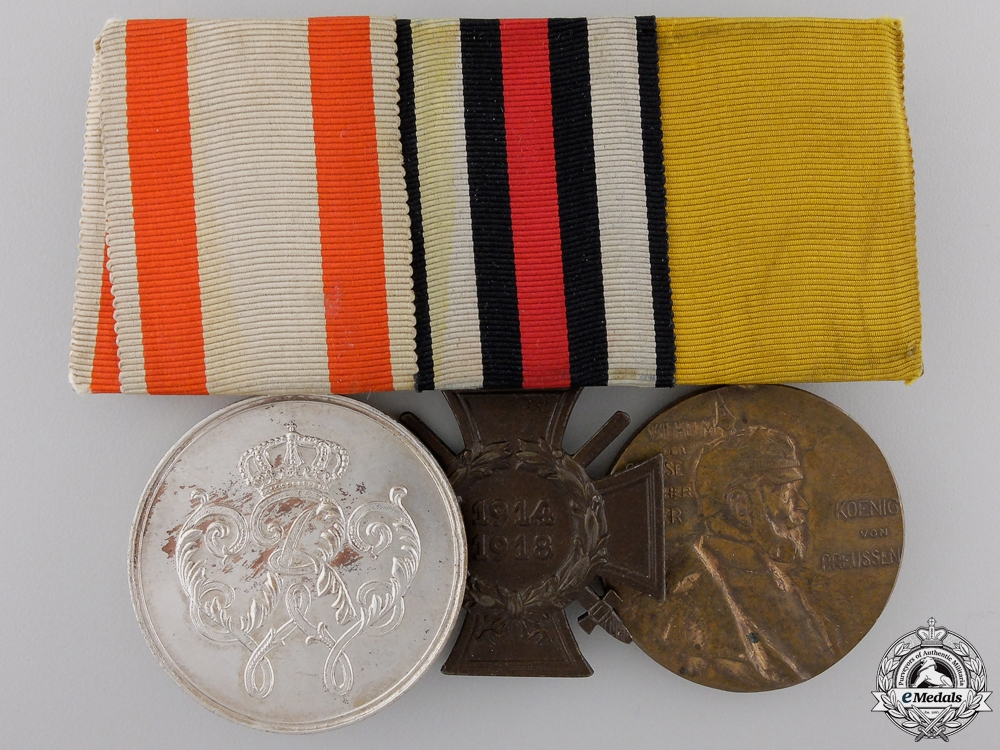 eMedals-A German Imperial Group of Three Awards