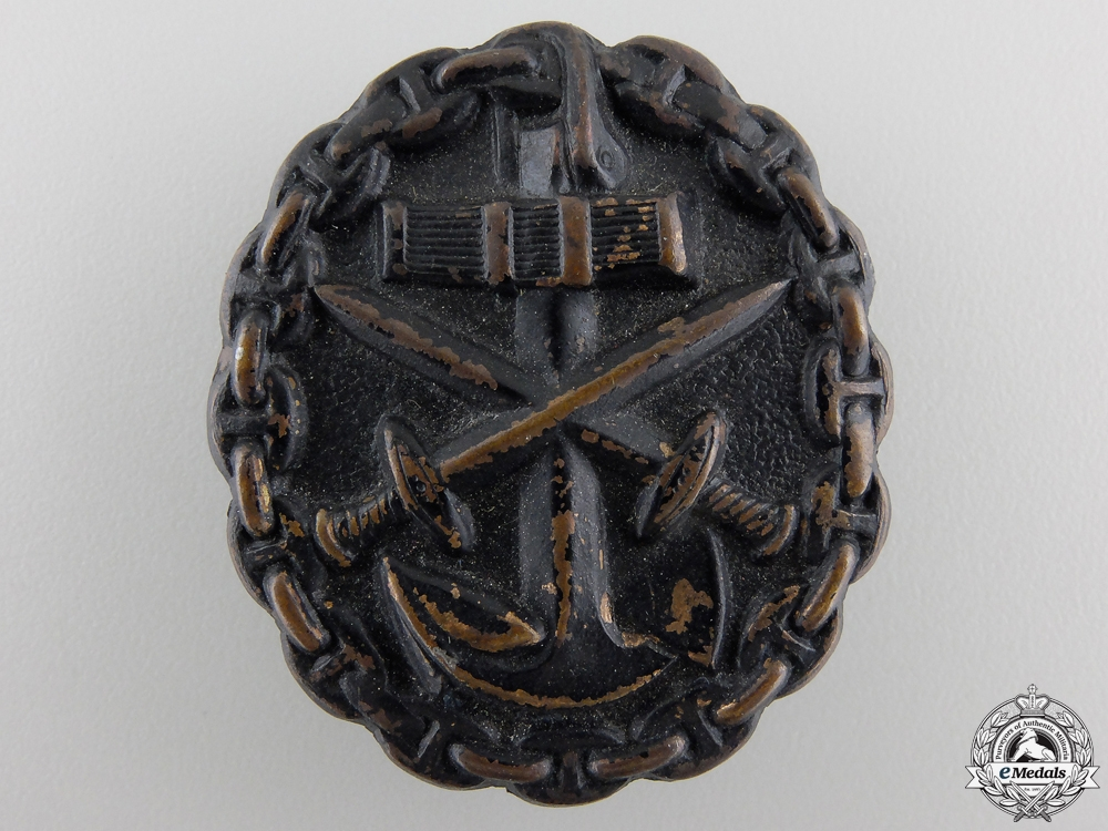 eMedals-A German Imperial Naval Wound Badge; Black Grade