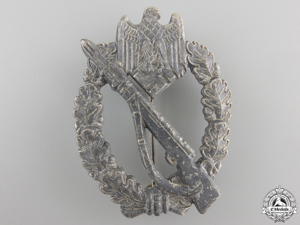 eMedals-A German Infantry Badge; Silver Grade by S.H.u.Co