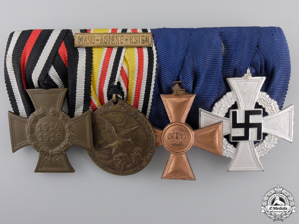 eMedals-A German Long Service & China Campaign Medal Bar