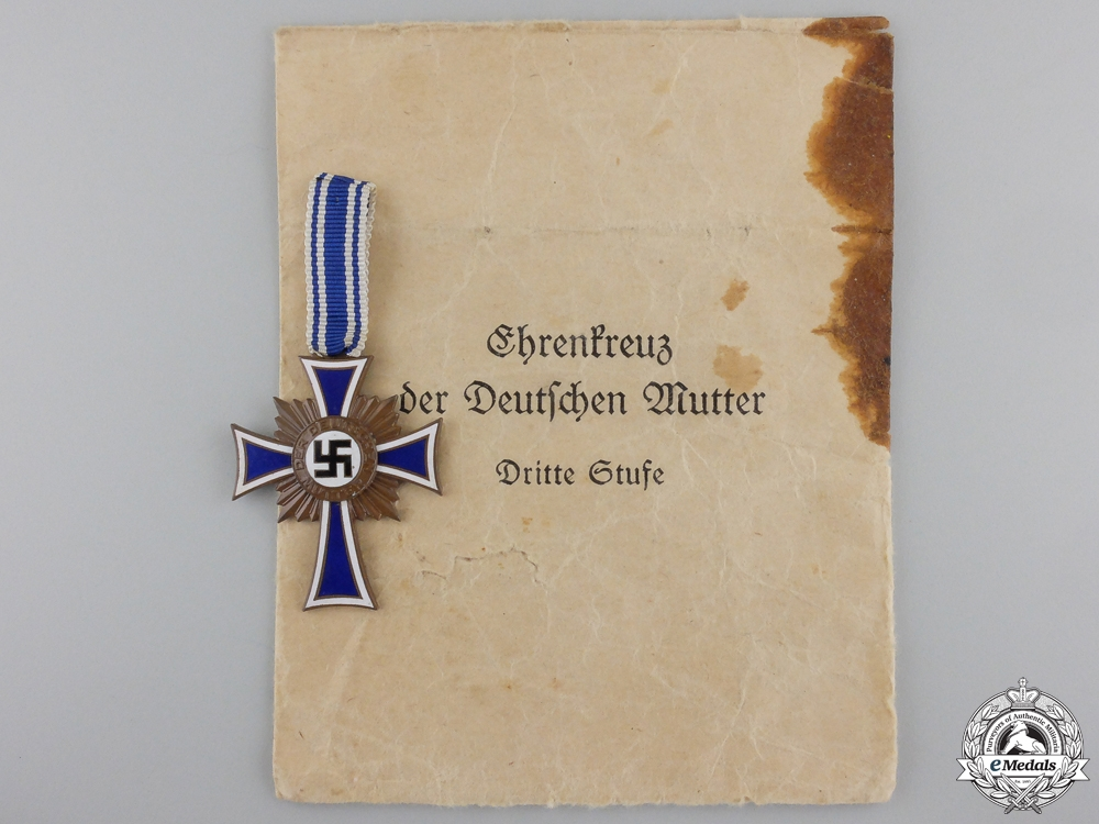 eMedals-A German Mother's Cross; Bronze Grade with Packet
