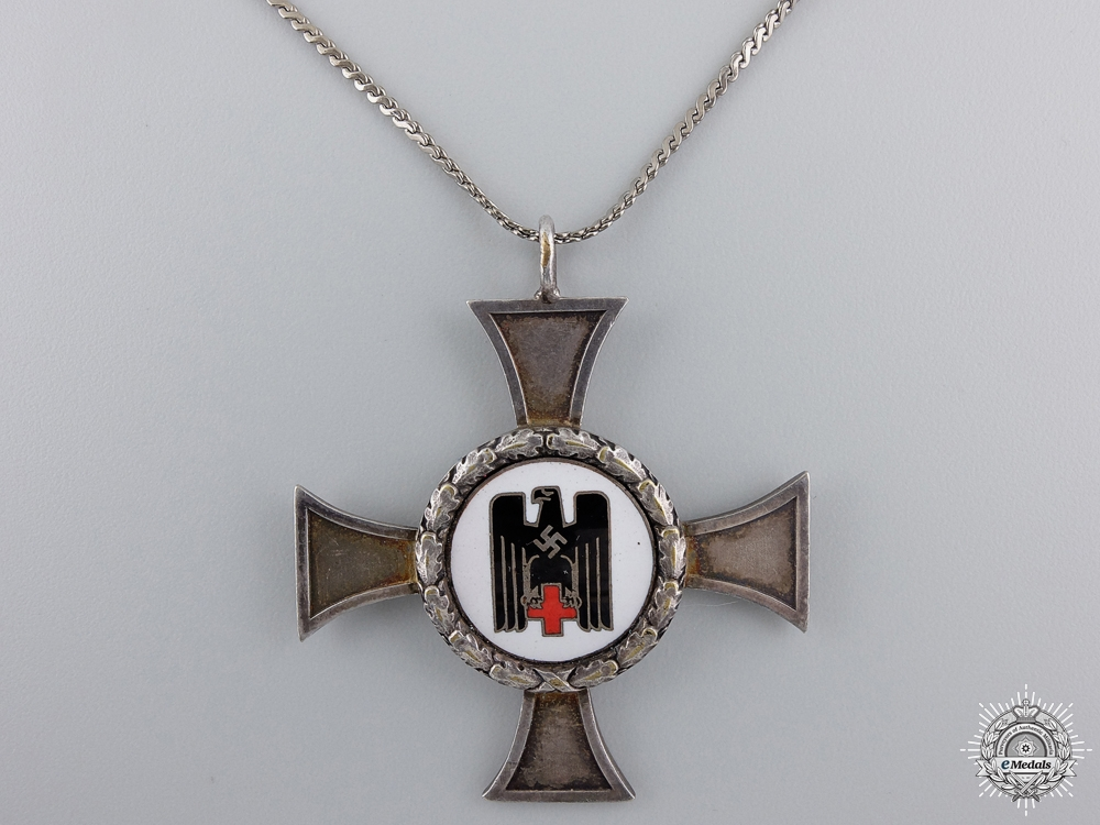 eMedals-A German Red Cross Sister's Cross; Silver Grade with Wreath