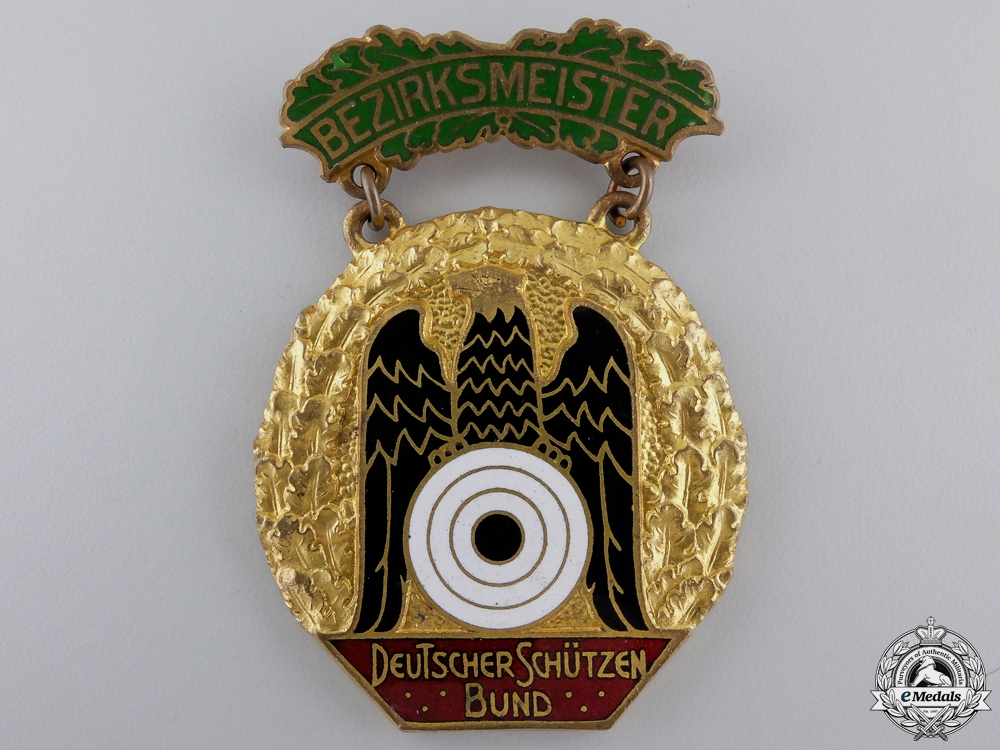 eMedals-A German Shooting Federation (DSB) District Championship Badge 1931-1932