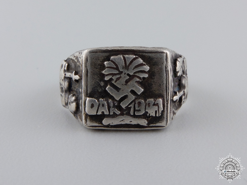 eMedals-A German Silver Afrikakorps Ring