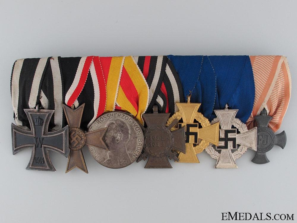 eMedals-A German WWI & Faithful Service Medal Bar