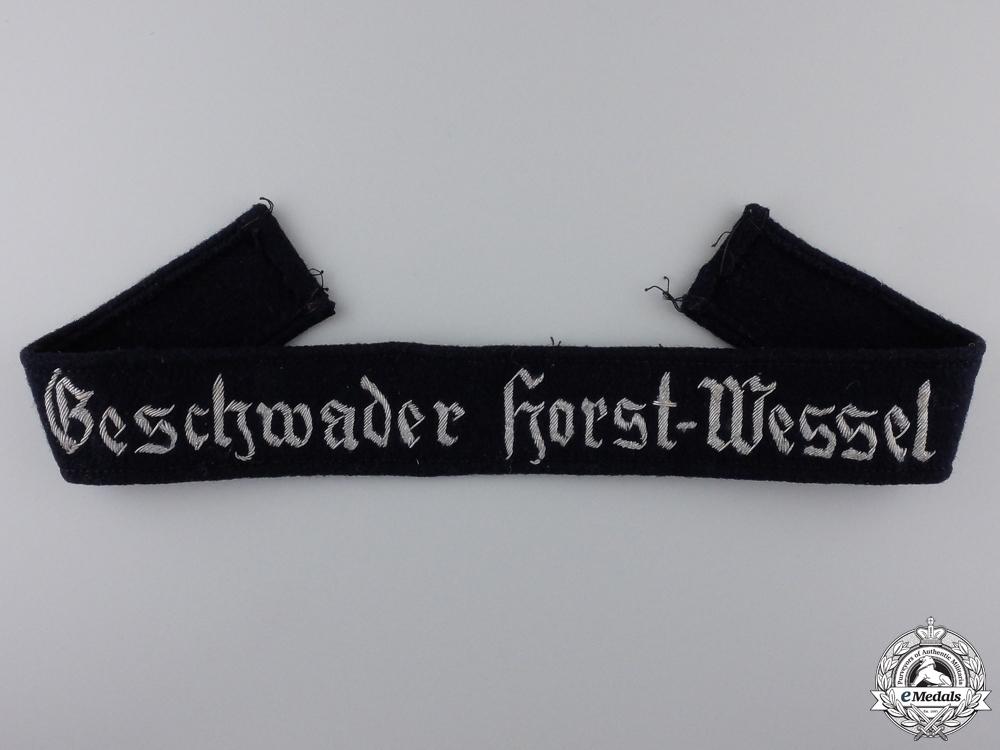 eMedals-A Geschwader Horst Wessel Cufftitle; Officers Version
