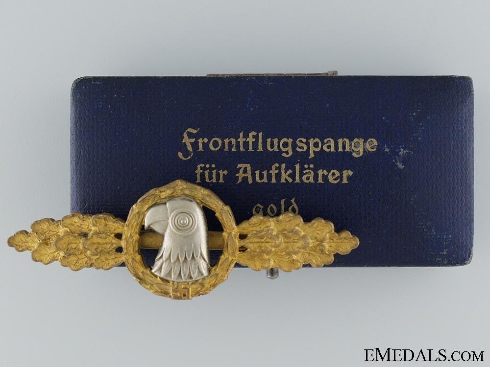 eMedals-A Gold Grade Reconnaissance Clasp by JMME & 1.Sohn Berlin  Consignment #3