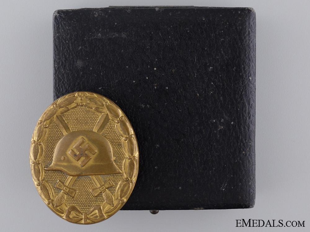eMedals-A Gold Grade Wound Badge in Case of Issue