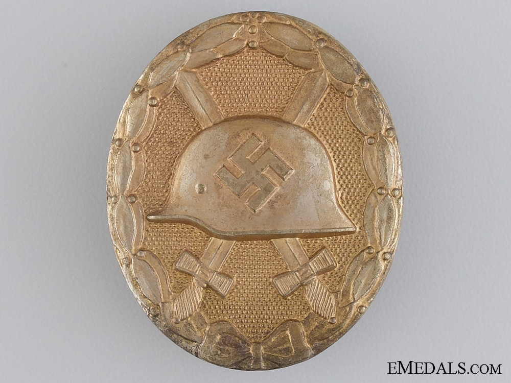 eMedals-A Gold Grade Wound Badge by Hauptmunzamt of Vienna