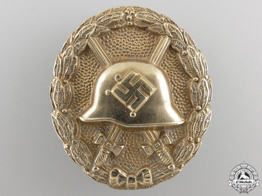 eMedals-A Gold Grade Wound Badge; Early Type