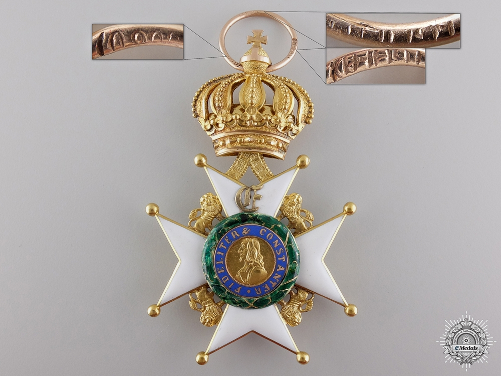 eMedals-A Gold Saxe-Ernestine House Order for Goburg & Gotha Division