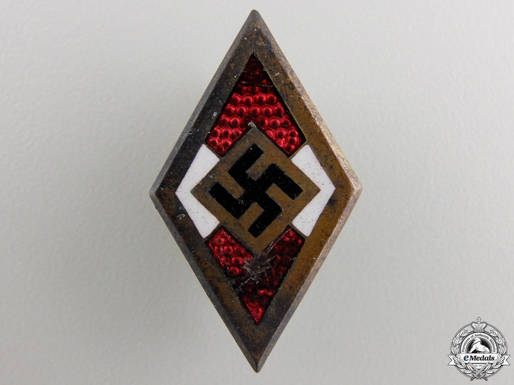 eMedals-A Golden HJ Honour Badge; RZM Marked