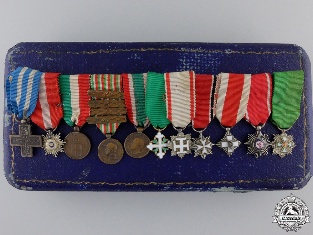 eMedals-A Grand Cross Miniature Set to the Wartime Mayor of Rome Giangiacomo Borghese