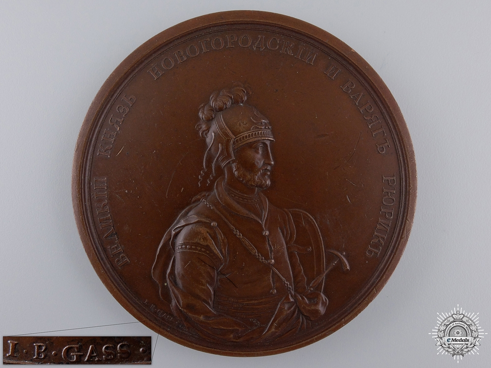 eMedals-A Grand Prince Rurik of Novgorod and the Varangians Table Medal