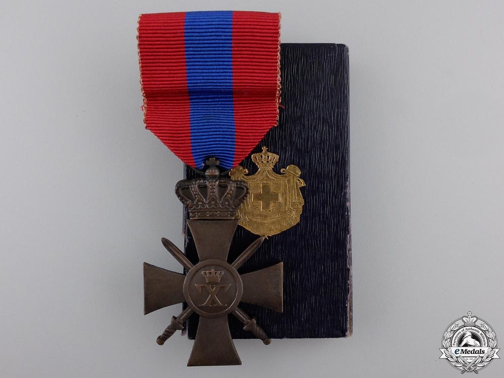 eMedals-A Greek War Cross 1940; 3rd Class with Box