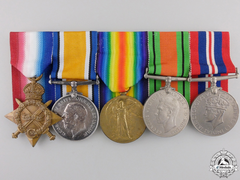 eMedals-A Group of Five Awards to 2nd Lieutenant William McLeod RFA