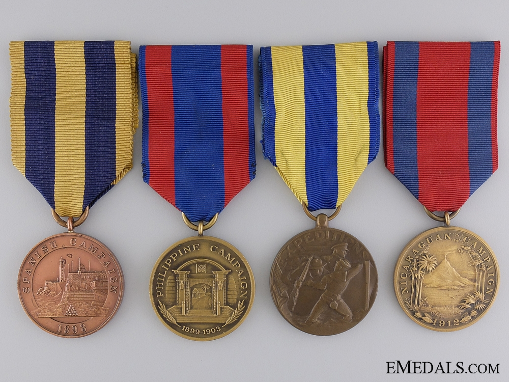 eMedals-A Group of Four American Campaign Medals