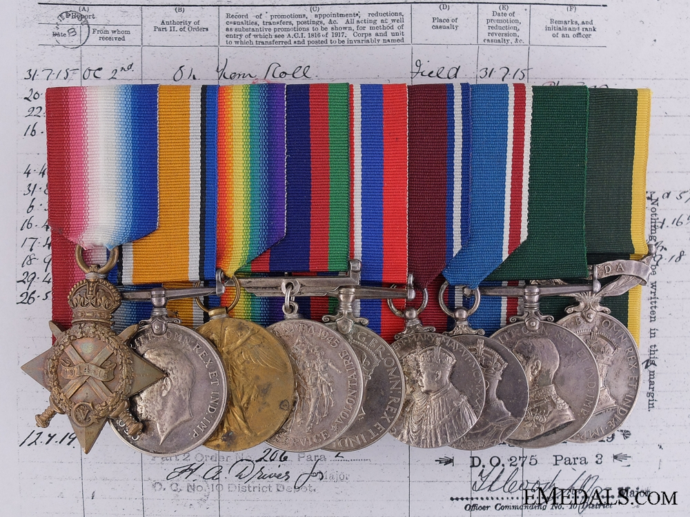 eMedals-A Group of Nine Awards to Regimental Sergeant Major Fritze