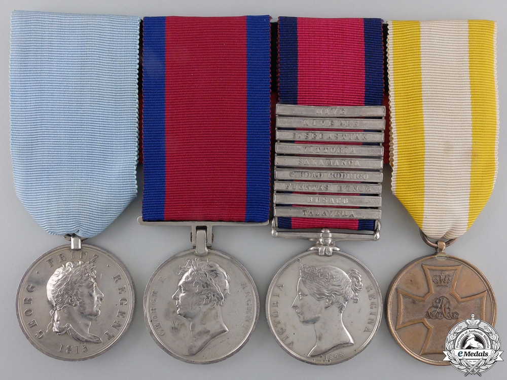 eMedals-A Guelphic Medal Group to Sergeant Henry Frehrking; Captured at Burgos