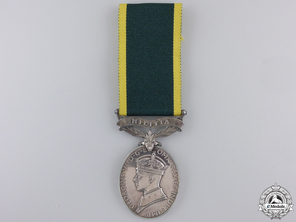 eMedals-A GVI Efficency Medal with Militia Bar to the Royal Engineers
