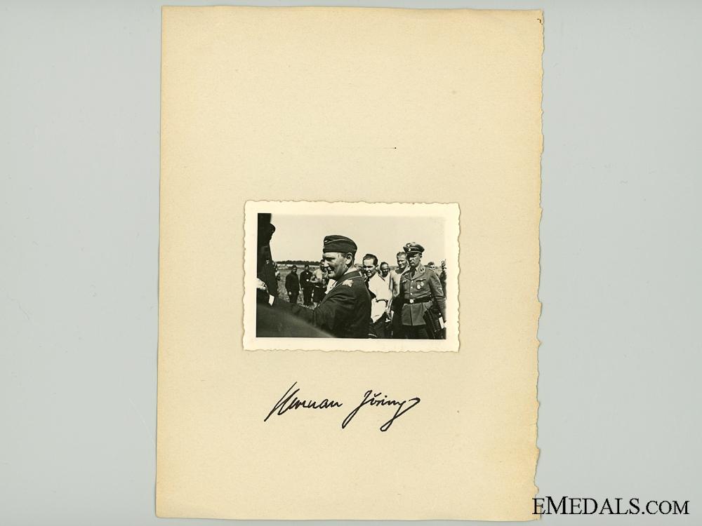 eMedals-A Hermann Göring Signature