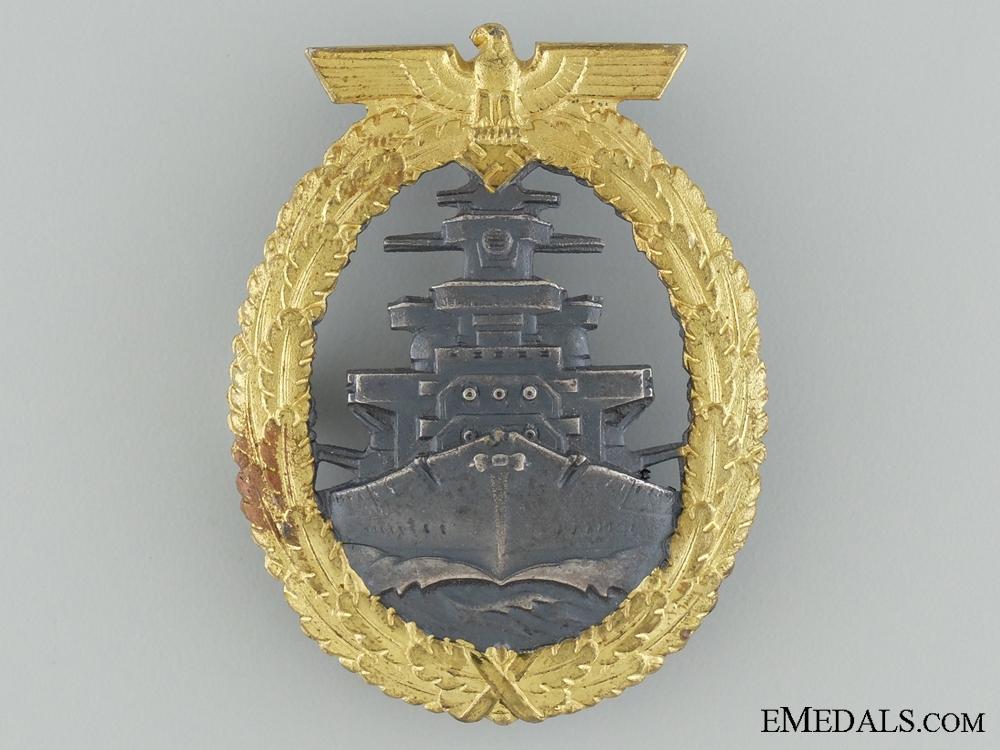 eMedals-A Mint High Seas Fleet Badge by Adolf Bock Ausf. Schwerin