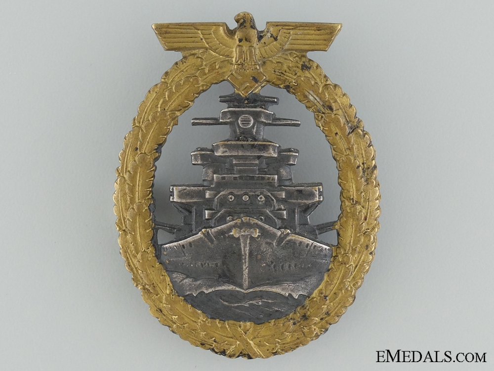 eMedals-A Kriegsmarine High Seas Fleet Badge by Schwerin, Berling
