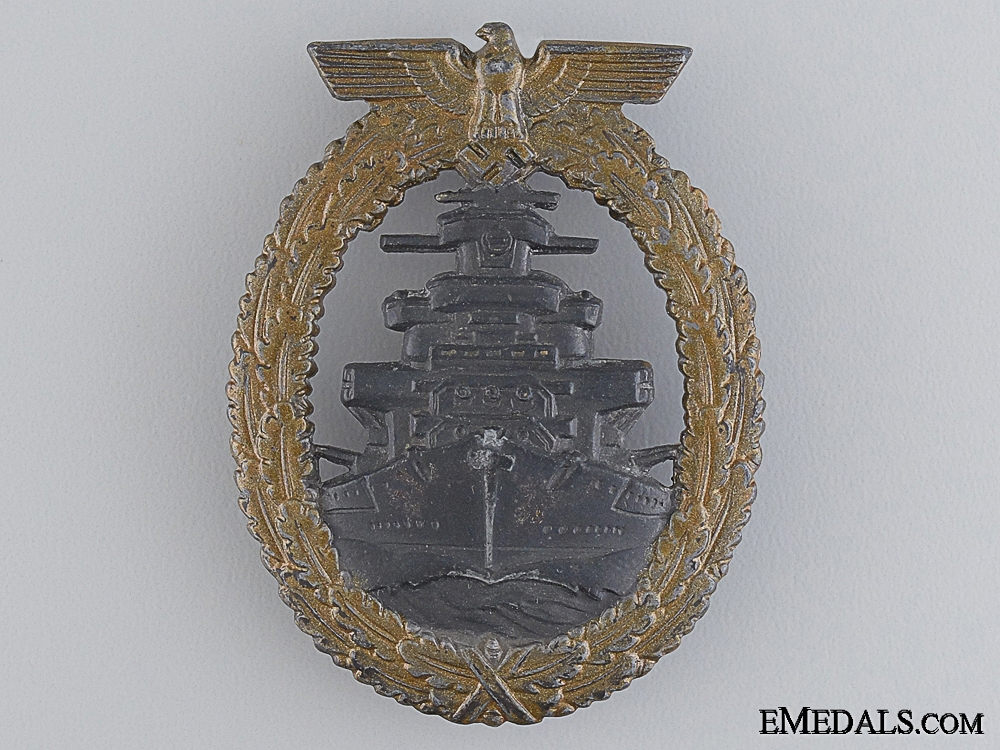eMedals-A High Seas Fleet Badge by Friedrich Orth, Wien
