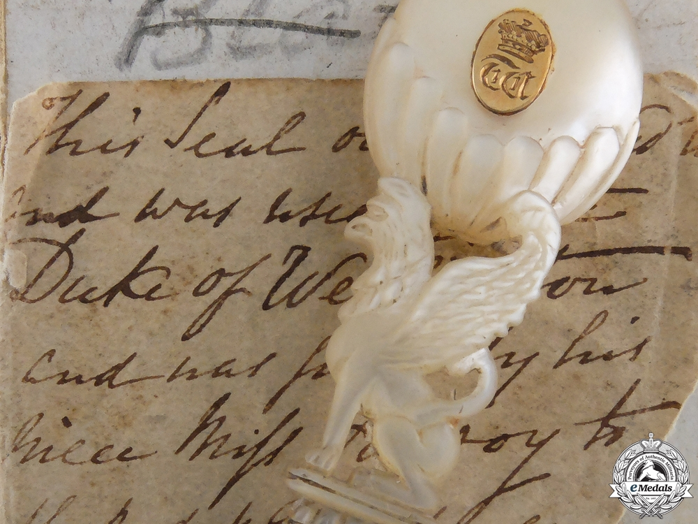 eMedals-A Historic Desk Seal Owned by The Duke of Wellington